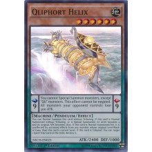 Yu-Gi-Oh! - Qliphort Helix (NECH-EN023) - The New Challengers - 1st Edition - Super Rare