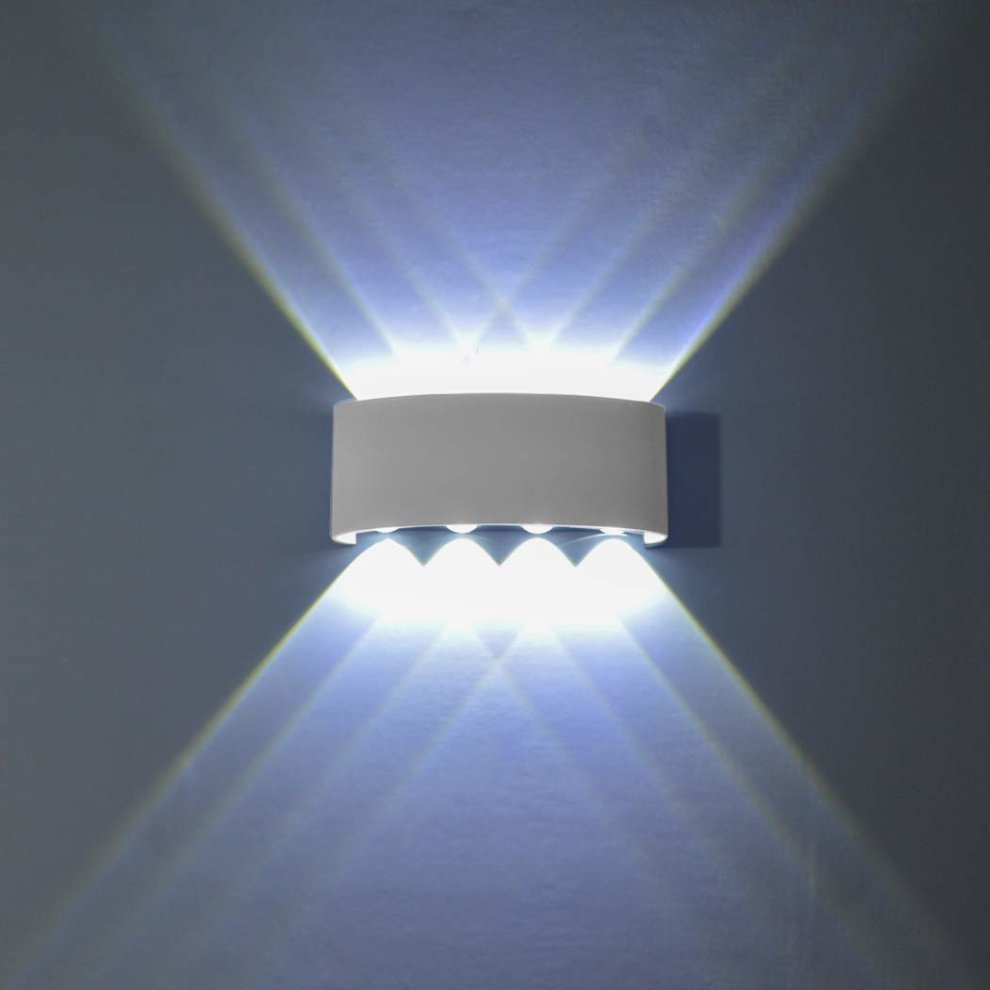 Phoewon 8w led wall light modern led wall sconce lights aluminium spot light night lamp for living room bedroom hall staircase pathway