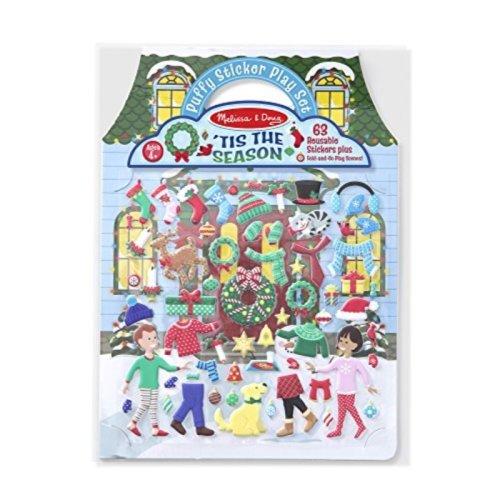 Melissa & Doug Puffy Sticker Activity Book: Tis the Season - 63 Reusable Stickers