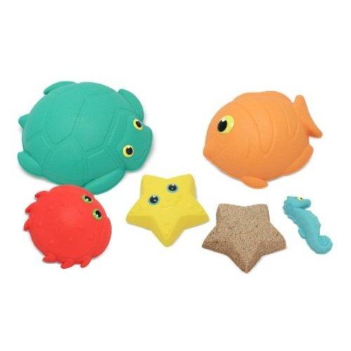 Melissa Doug Sunny Patch Seaside Sidekicks Sandmolding Set With 5 Animal Shapes