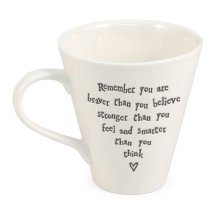 East of India Porcelain Mug - Remember you are braver than you think