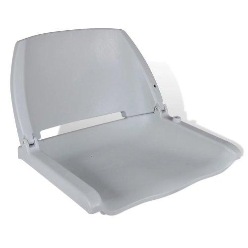 vidaXL Boat Seat Foldable Backrest no Pillow Grey 41x51x48cm Watercraft Part