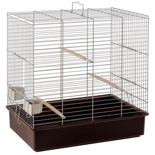Sonia Parakeet Cage Grey 61.5x40x65cm