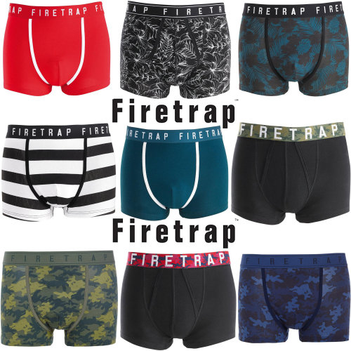 Firetrap Men's Boxer Shorts/Trunks 6 Pack Assorted
