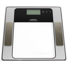 Sabichi 150kg Digital Bathroom Glass Scale Electronic Lcd Body Fat Weight 168405 -  body electronic bathroom digital fat sabichi weight 150kg scale