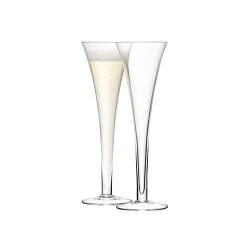 LSA Hollow Stem Champagne Flutes 7oz / 200ml - Pack of 2 | 20cl Champagne Glasses, Hollow Stemmed Champagne Glasses, Handmade Glassware from LSA