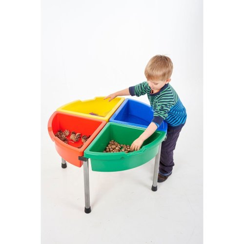 Childrens Exploration Coloured Circle Tray & Stand Set (30862)