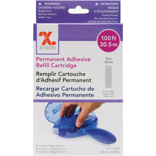 """Xyron Mega Runner Permanent Adhesive Refill-.25""""X100' For Use In 0701 Or 100049"""
