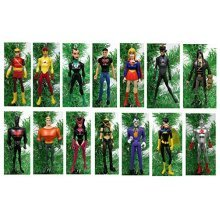 """Justice League YOUNG JUSTICE Christmas Tree Ornaments - 4"""" Plastic Shatterproof Ornaments"""