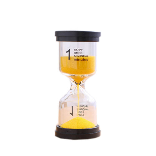Colorful Sand Timer Hourglass Sandglass Small Ornaments Dropping Ueasily, 1 minutes + Yellow