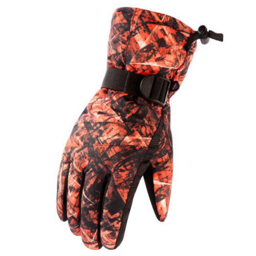 1 Pair Outdoor Winter Cycling Cold-proof Gloves Waterproof Skiing Gloves Warm Gloves,D
