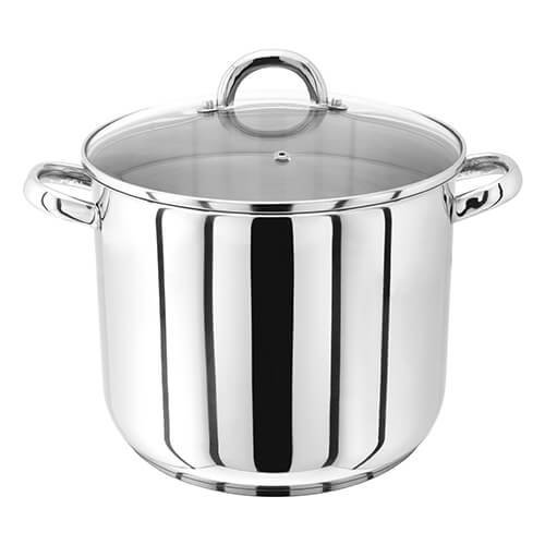 Judge 26cm Stainless Steel Stockpot With Vented Glass Lid, 10 Litre