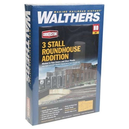 Walthers Cornerstone Series Kit HO Scale Modern Roundhouse Add-On Stalls
