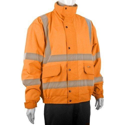 Click CBJFLOR4XL Hi Vis Orange Bomber Jacket Fleece Lined XXXXL