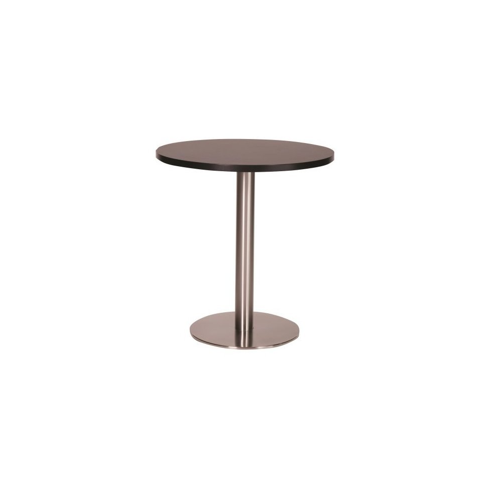Daniella Brushed Stainless Steel Dining Table Large Base With Various Top Sizes And Colours Wenge 1000 Round 100 Standard