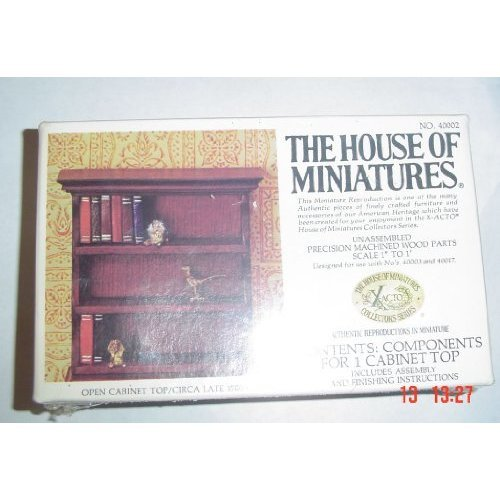 The House of Miniatures Open Cabinet Top Circa Late 1700 s 40002