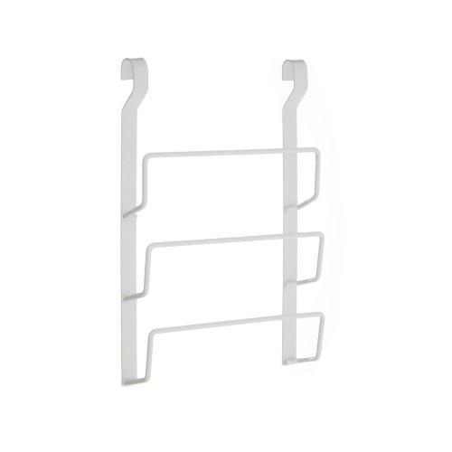 Sorello Hanging Pan Lid rack, Iron, White
