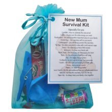 New Mum Survival Kit Gift (Blue) - A sweet gift for mum-to-be / baby shower