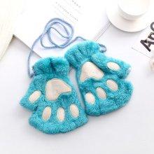 Women Bear Cat Claw Mitten Plush Gloves
