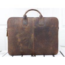 Vintage leather lap top bag