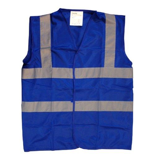 Blue Hi Visibility Reflective Safety Vests 6 Sizes