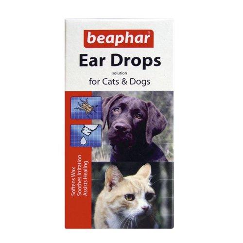 Beaphar Dog & Cat Ear Drops 15ml (Pack of 6)
