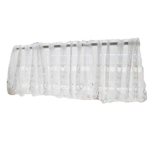 Swan - Translucent Short Kitchen Curtain Half Window Curtain Cafe Tier Curtain