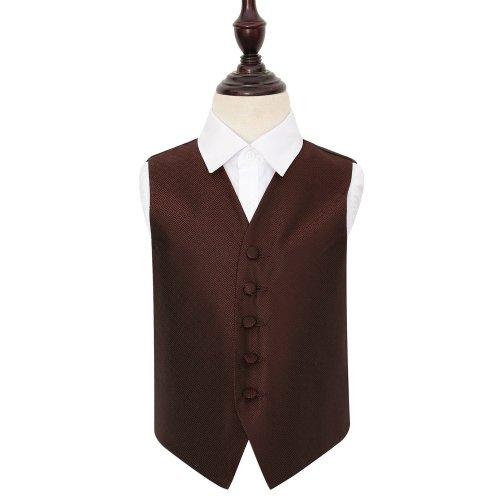 Burgundy Greek Key Wedding Waistcoat for Boys 30'