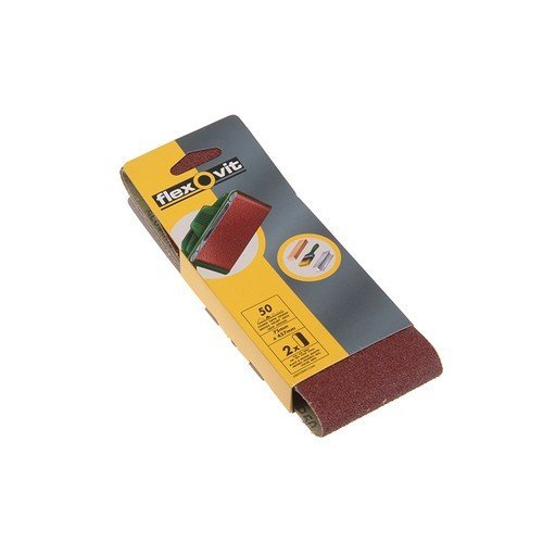 Flexovit 63642526461 Cloth Sanding Belts 75mm x 457mm 50g Coarse Pack of 2