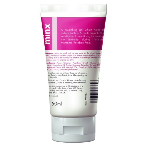 Minx Thrill Me Orgasm Gel Intensity and Stimulating in White 50ml
