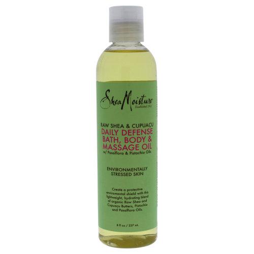 Raw Shea & Cupuacu Daily Defense Bath-Body & Massage Oil by Shea Moisture for Unisex - 8 oz Oil