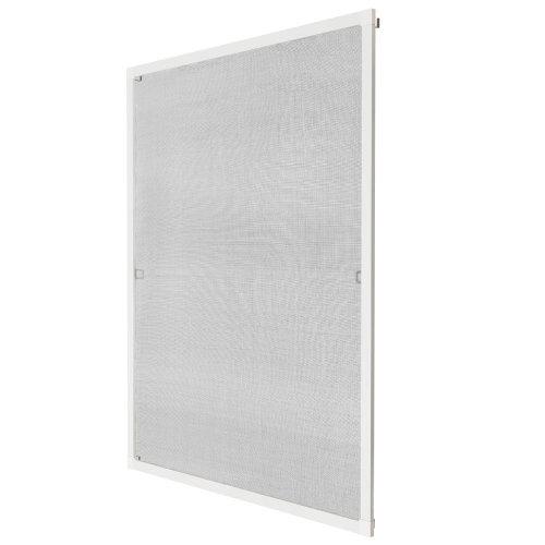 Fly screen for window frame 80 x 100 cm white