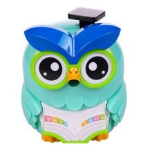 Lovely Owl Manual Pencil Sharpener For Classroom 8.7x12.1x9.9CM Blue