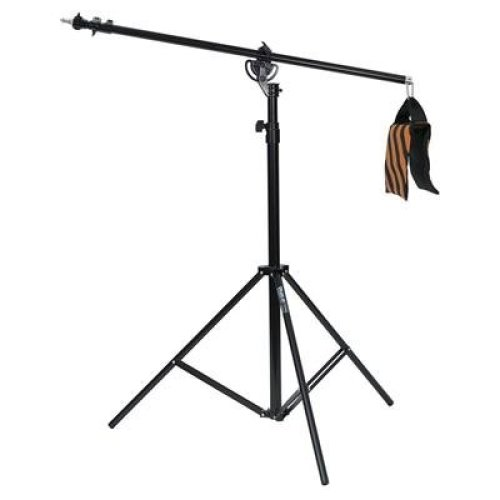 Phot-R 4m Heavy Duty Umbrella Softbox Flash Photo Studio 2-in-1 Combi Combination Light Boom Stand with Sandbag and Carry Case