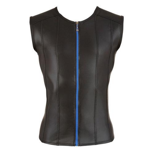 Men's Shirt With Blue Zipper XXL Men's Lingerie Shirts - Svenjoyment Underwear