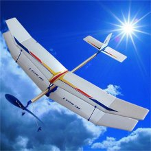 Glider Rubber Band Elastic Powered Flying Plane Airplane Fun Model Kids Toy Beach Toys