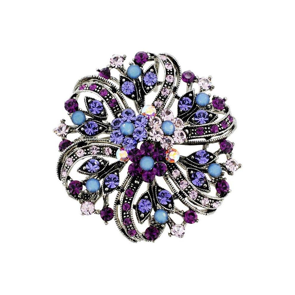 83e953a918c Fantasyard 2 oz Flower Wedding Swarovski Crystal Pin Brooch & Pendant -  Amethyst Purple - 2.125 x 2.125 in. on OnBuy