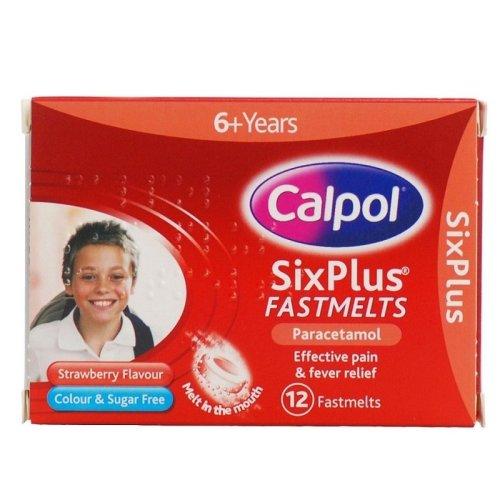Calpol SixPlus 12 Fastmelts - Strawberry Flavour