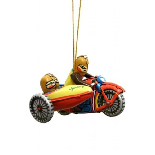 SHAN AT6 Collectible Tin Ornament - Motorcycle