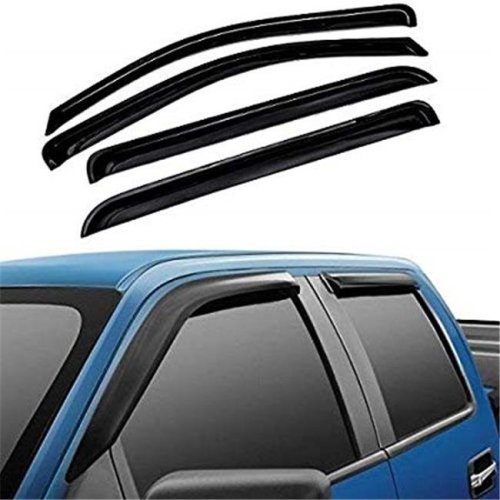 Atomsonic WV-15-F150-supercrew Sun & Rain Guard Vent Shade Window Visors Wind Deflector for 2015-2018 Ford F150 Tape-On - 4 Piece