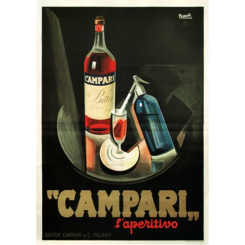 Advertising poster - Campari - High definition printing on stainless steel plate