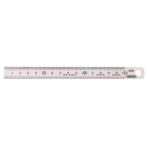 "6"" 150mm Draper Stainless Steel Rule - Expert 22670 6inch -  draper 150mm stainless steel expert rule 22670 6inch"