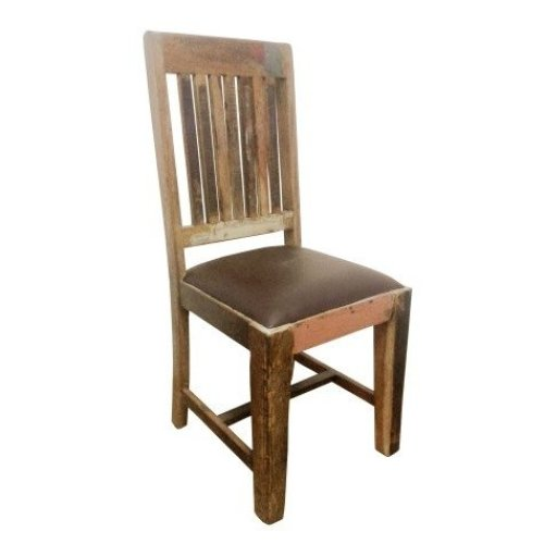 Shannon Reclaimed Wood Padded Chair - Assembled