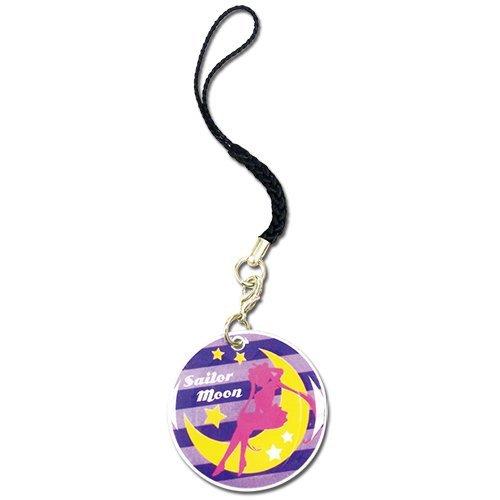 Cell Phone Charm - Sailor Moon - New Sailor Moon Silhouette Purple Stripe ge17527