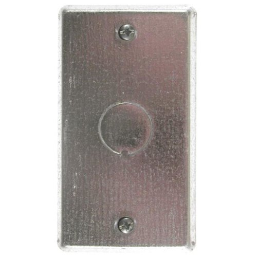 Thomas & Betts Single Gang Blank Switch Cover With Knockout 58-C-6