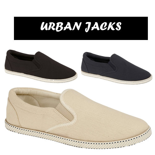 mens twin gusset canvas espadrille shoes pumps