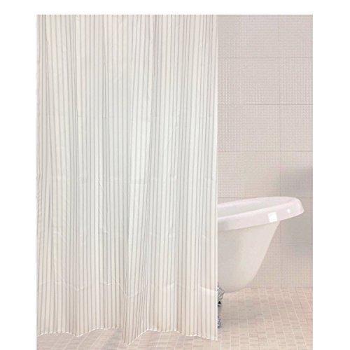 Sabichi Tickling Stripe Polyester Shower Curtain - Muted 180 x 180cm 179470 -  sabichi tickling stripe polyester shower curtain muted 180 x 180cm