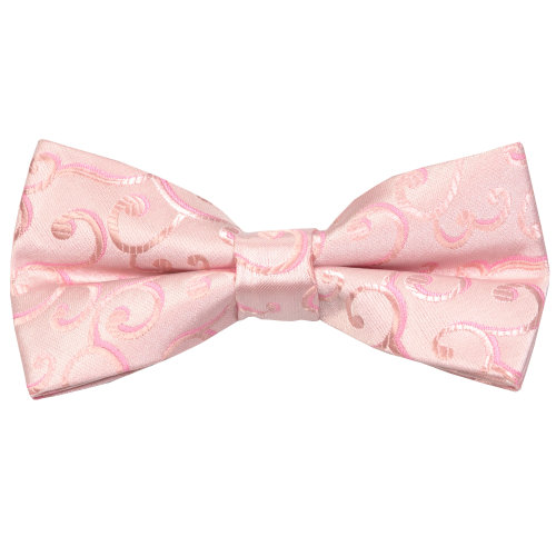 Light Pink Royal Swirl Wedding Bow Tie #AB-BB1001/3