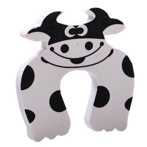 """Set of 5 Lovely Cow Elasticity Door Stop Children Cartoon Door Holder 4*0.5"""""""