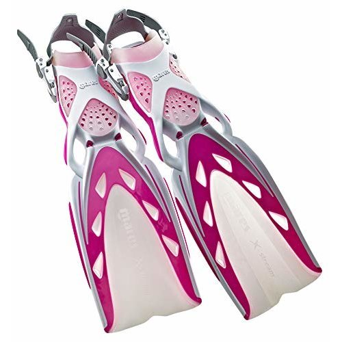 Mares X Stream Open Heel Fins White Pink Small